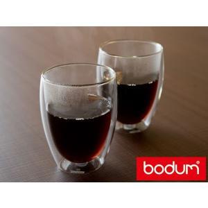 ボダム パヴィーナダブルウォールグラス2個セット(4559-10)<350ml>【bodum】|kitchen