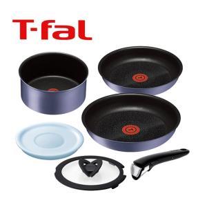 ティファール インジニオ・ネオ IHセレナーデ・エクセレンス セット 6( L66490 ) 【 T-FAL 着脱式取っ手 取っ手のとれる 鍋 フライパン 】|kitchen
