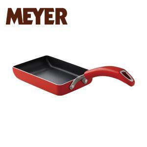 マイヤー イタリアンレッド2 エッグパンM ( MIR2-EM ) 【 MEYER オール熱源対応 カラーフライパン 卵焼き器 玉子焼き 】|kitchen