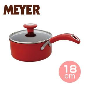 マイヤー イタリアンレッド2 片手鍋18cm ( MIR2-S18 ) 【 MEYER  オール熱源対応 カラーフライパン 】|kitchen