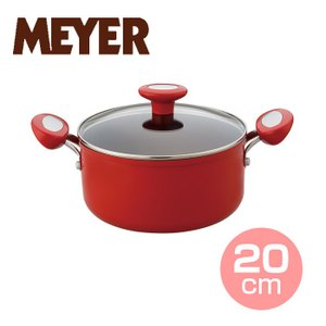 マイヤー イタリアンレッド2 両手鍋20cm ( MIR2-W20 ) 【 MEYER  オール熱源対応 カラーフライパン 】|kitchen