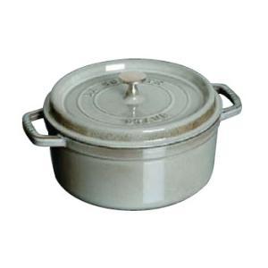 【30%OFF】Staub/ストウブ ピコ ココット 丸 24cm(1102418)<グレー>|kitchen