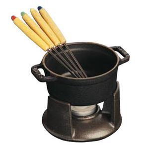 Staub/ストウブ ミニ・チョコレートフォンデュセット(1400423)<ブラック>|kitchen