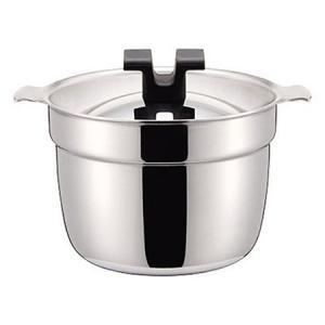 宮崎製作所 RICE POT/炊飯鍋 Sタイプ 2号 ( 2.4L ) ( RP-2S ) 【 ステンレス+アルミ芯3層鋼 200V IH対応 】|kitchen