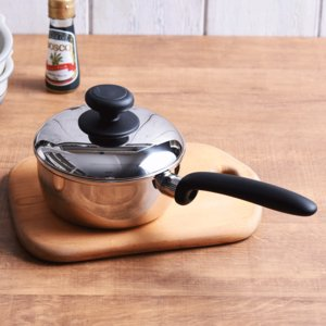 宮崎製作所 COZY/コージー ソースパン(CZ-14N)<14cm>【 片手鍋 ステンレス 】|kitchen