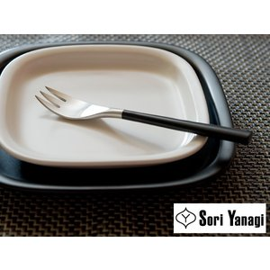 [ 14本までメール便可 ] 柳宗理 YANAGI SORI 黒柄 カトラリー デザートフォーク ( #2250 )|kitchen
