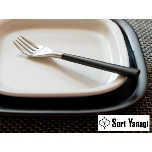 [ 14本までメール便可 ] 柳宗理 YANAGI SORI 黒柄 カトラリー サラダフォーク ( #2250 )|kitchen