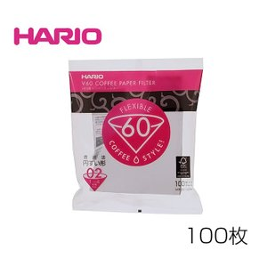 HARIO/ハリオ V60用ペーパーフィルター02W(VCF-02-100W) 100枚|kitchen