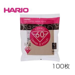 HARIO/ハリオ V60用ペーパーフィルター02M(VCF-02-100M) 100枚|kitchen