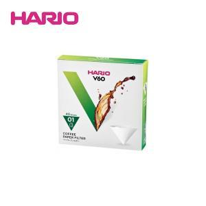 HARIO/ハリオ V60用ペーパーフィルター01W(VCF-01-40W) 40枚|kitchen