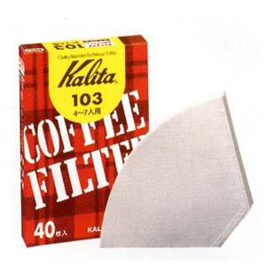 カリタ 103濾紙(ホワイト)40枚入(#15027)|kitchen