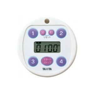 タニタ  デジタルタイマー100分計 プリセットタイマー(5366)<ホワイト>|kitchen