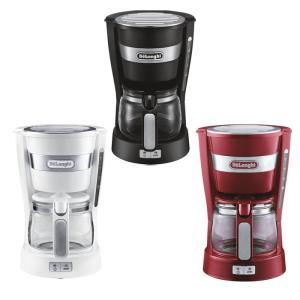 デロンギ ドリップコーヒーメーカー 選べる3色 < ブラック/レッド/ホワイト > ( ICM14011 ) 【 Delonghi 5杯用 】|kitchen