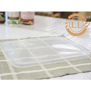 《1点までメール便対応可能》野田琺瑯 ホワイトシリーズ レクタングル 深型 LL 替え用シール蓋 ( SFF-LL )|kitchen