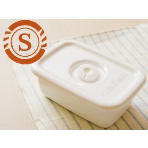 野田琺瑯 ホワイト シリーズ レクタングル深型 S 密閉蓋付(WFM-S)|kitchen