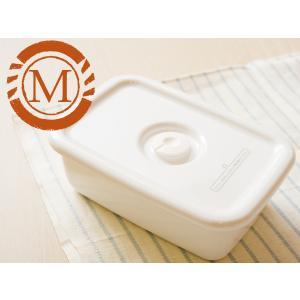 野田琺瑯 ホワイト シリーズ レクタングル深型 M 密閉蓋付(WFM-M)|kitchen