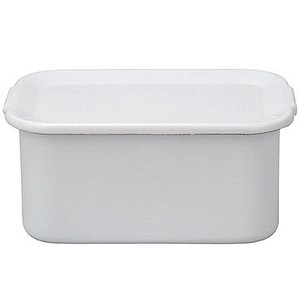 野田琺瑯 ホワイト シリーズ レクタングル深型LL 琺瑯蓋付(WFH-LL)|kitchen