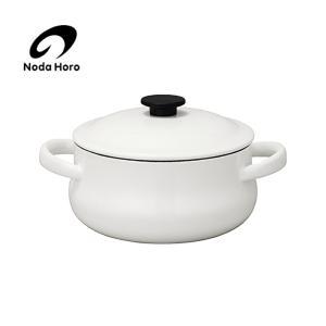 野田琺瑯 ルークキャセロール21cm<ホワイト>LK-21T 【 野田ホーロー LUKE 両手鍋 】|kitchen