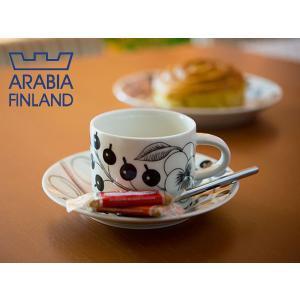 アラビア ブラック パラティッシ ティーカップ&ソーサー ( 6677 / 6678 )|kitchen