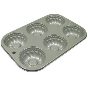 富士ホーロー ベイクウェアー ミニクグロフケーキ型(57304)<6P>|kitchen