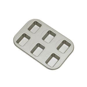 富士ホーロー ベイクウェアー ミニパウンドケーキ型(57305)<6P>|kitchen