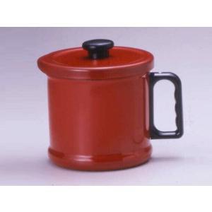 富士ホーロー 1.5Lオイルポット(活性炭カートリッジ付)(OP-1.5C・R)<レッド>|kitchen
