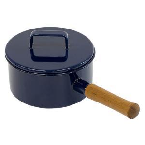富士ホーロー エトル ソースパン 片手鍋 IH対応 17cm 2L ( 蓋無し ) EE-17S・N ネイビー [ アドキッチン ]|kitchen