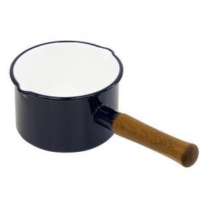 富士ホーロー エトル ミルクパン 片手鍋 IH対応 14cm 1.4L ( 蓋無し ) EE-14M・N ネイビー [ アドキッチン ]|kitchen