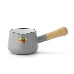富士ホーロー ハニーウェア ソリッド ミルクパン ホーロー鍋 片手鍋 12cm ライトグレー SD-12M LG 富士琺瑯 鍋 ホーロー 琺瑯 FUJIHORO|kitchen