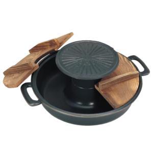 五進 アルミ 焼きしゃぶ鍋(シルクウェアー加工)|kitchen