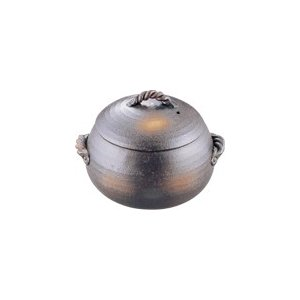 栗型 ごはん炊き 黒 小(3合炊)|kitchen
