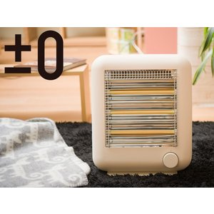 ±0/ プラマイゼロ 遠赤外線電気ストーブ スチーム機能付【プラスマイナス ゼロ】(XHS-V110(LT))<ライトブラウン>|kitchen
