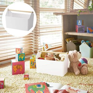 【ポイント10倍】山崎実業 収納ボックス ファボリ ホワイト WH 3465 Yamazaki おもちゃ箱 ツールボックス|kitchen