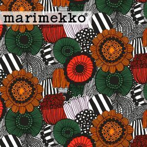 [ 1.5mまでメール便送料無料 ] マリメッコ MARIMEKKO ピエニ シールトラプータルハ 生地 グリーン オレンジ ( 30cm以上〜10cm単位で切り売り ) [ ファブリック ]|kitchen