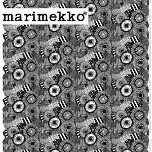 《 1.5mまで メール便 送料無料 》 マリメッコ ピエニ シールトラプータルハ 生地 ブラック (30cm以上〜10cm単位で切り売り) 《ファブリック》 kitchen