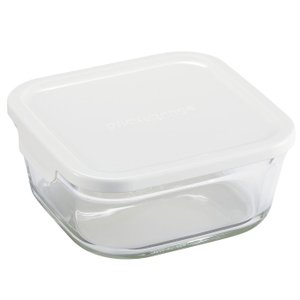 イワキ パックレンジ BOX 小 深型 (ホワイト)( KN3247H-W ) 【 iwaki 保存容器 つくりおき 】|kitchen