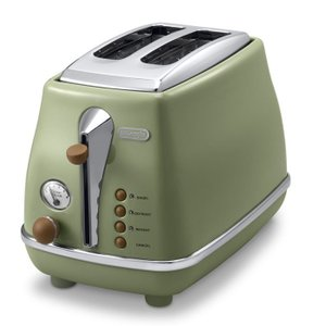 DeLonghi デロンギ アイコナ・ヴィンテージポップアップトースター (オリーブグリーン)( CTOV2003J-GR )  DeLonghi 調理家電 トースター レトロ kitchen