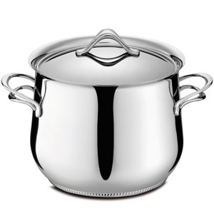 ラゴスティーナ Lagostina メロディア ラゴフュージョン ストックポット 両手鍋  ( 蓋付 ) 22cm 011110020522|kitchen