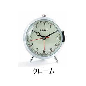 DULTON/ダルトン アラーム クロック (クォーツ)(100053Q)<クローム>|kitchen