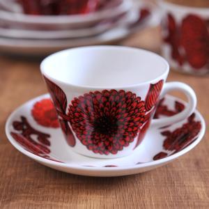 グスタフスベリ レッドアスター コーヒーカップ&ソーサー 復刻版|kitchen
