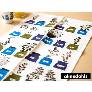 《3点までメール便可能》 アルメダールス キッチンタオル ( 70210 ) < ハーブポット/ブルー > 【 Almedahls スウェーデン 北欧雑貨 】|kitchen
