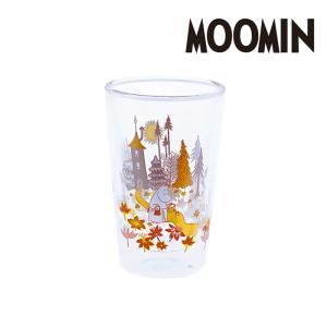 ムーミン ダブルグラス タンブラー<FLOWER> 【 MOOMIN double glass tumbler 北欧 コップ グラス 】|kitchen