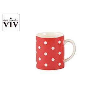 VIV/ヴィヴ メゾンマグ 【MAISON MUG/マグカップ】(26230)<ドットレッド>|kitchen