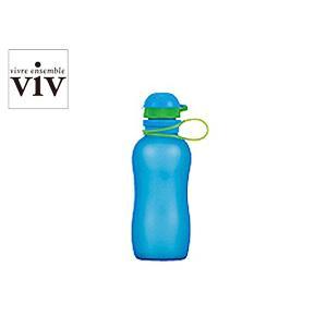 VIV/ヴィヴ シリコンボトルアクティブ 300mL 【SILICONE BOTTLE ACTIVE/水筒】(59891)<ブルー>|kitchen