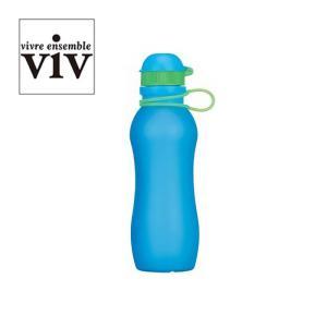 ヴィヴ ( VIV ) シリコンボトルアクティブ 500mL ブルー [ SILICONE BOTTLE ACTIVE 水筒 ] ( 59849 )|kitchen
