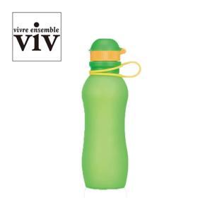 【送料無料】VIV ヴィヴ シリコンボトルアクティブ 500mL 水筒 シリコン 折りたたみ 軽量 持ち運び SILICONE BOTTLE ACTIVE グリーン ( 59850 )|kitchen