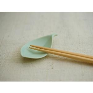 白山陶器 木の葉 はしおき 浅緑 [ HAKUSAN 和食器 ] kitchen