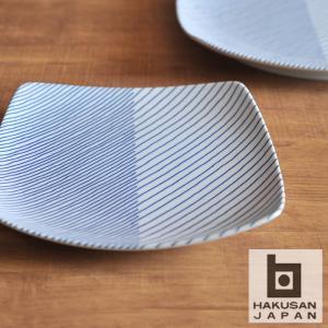 白山陶器 重ね縞 反角多用皿 [ HAKUSAN 波佐見焼 和食器 ] kitchen