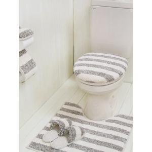 【ポイント10倍!】カームランド calmland ナチュラルボーダー 洗浄暖房用フタカバー ( TNB-2940 ) ブラウン|kitchen
