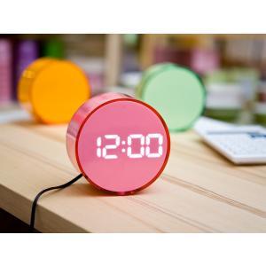 LED丸型アラームクロック(LED102PKWH)<ピンク(ホワイトLED)>|kitchen